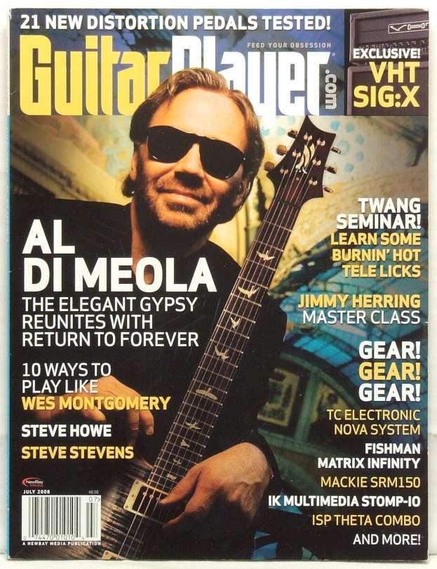 Guitar Player Magazine Al Di Meola Wes Montgomery Steve Howe Jimmy