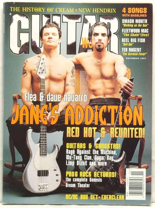 Guitar World Magazine Jane's Addiction Dave Navarro Flea Fleetwood Mac Very RARE