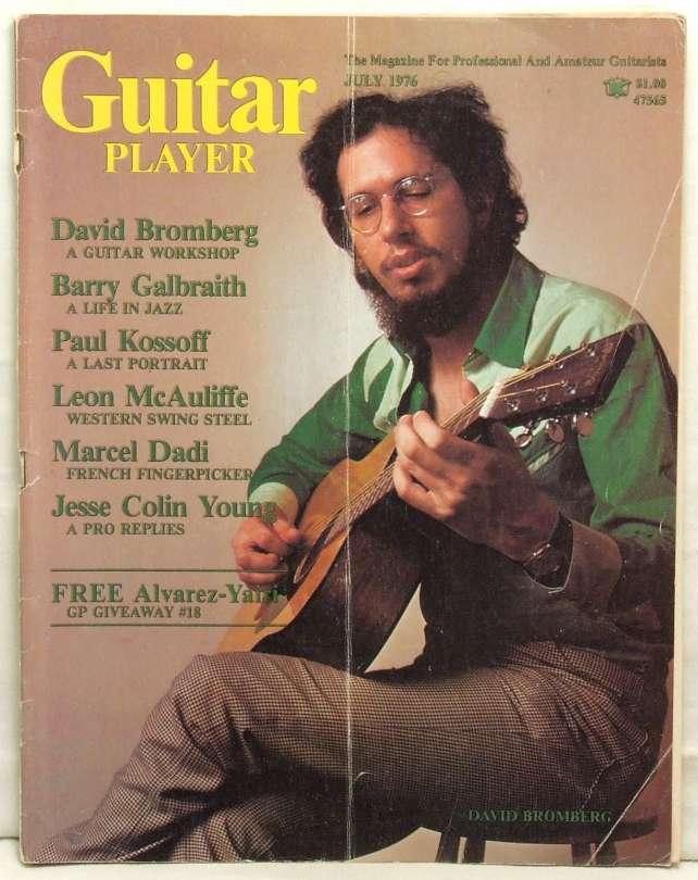 Guitar Player Magazine David Bromberg Barry Galbraith Paul Kossoff