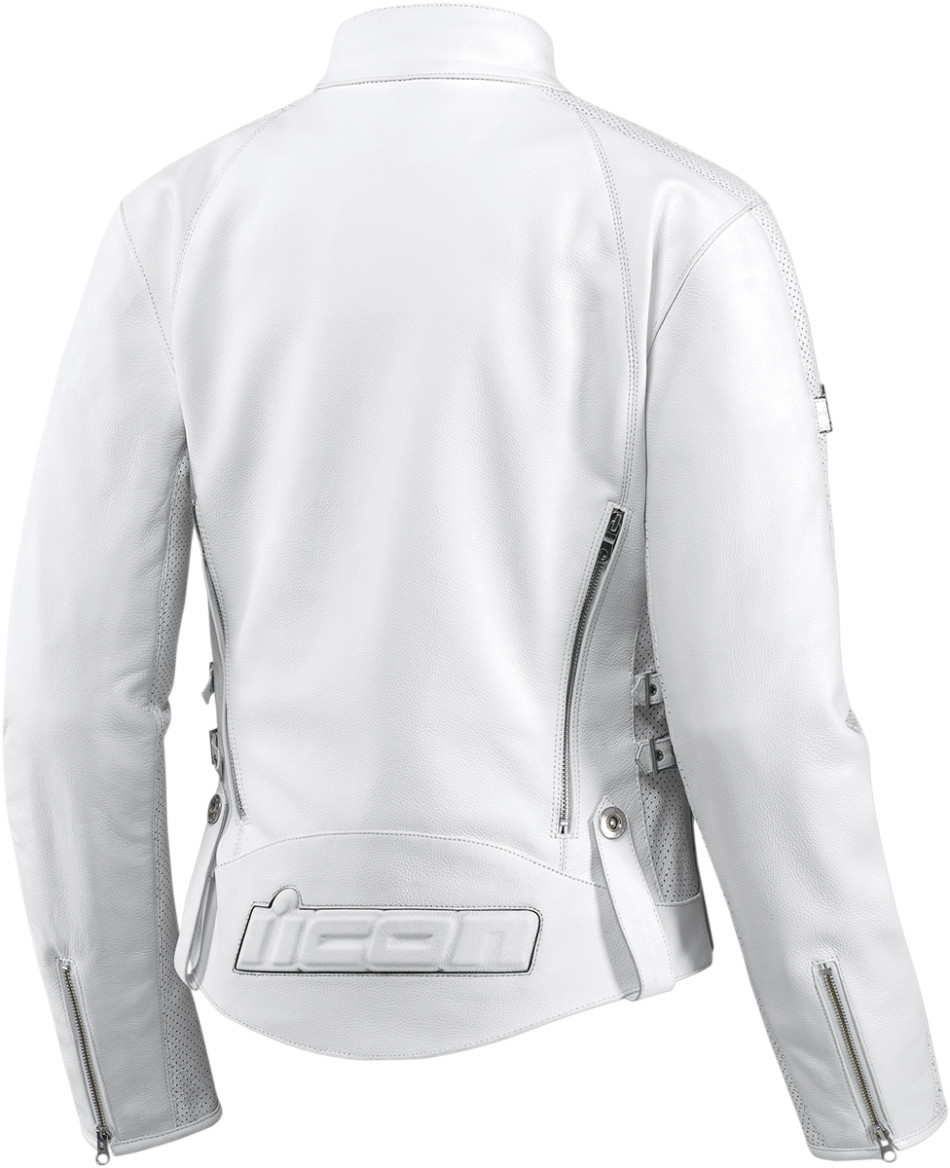 White leather womens jacket
