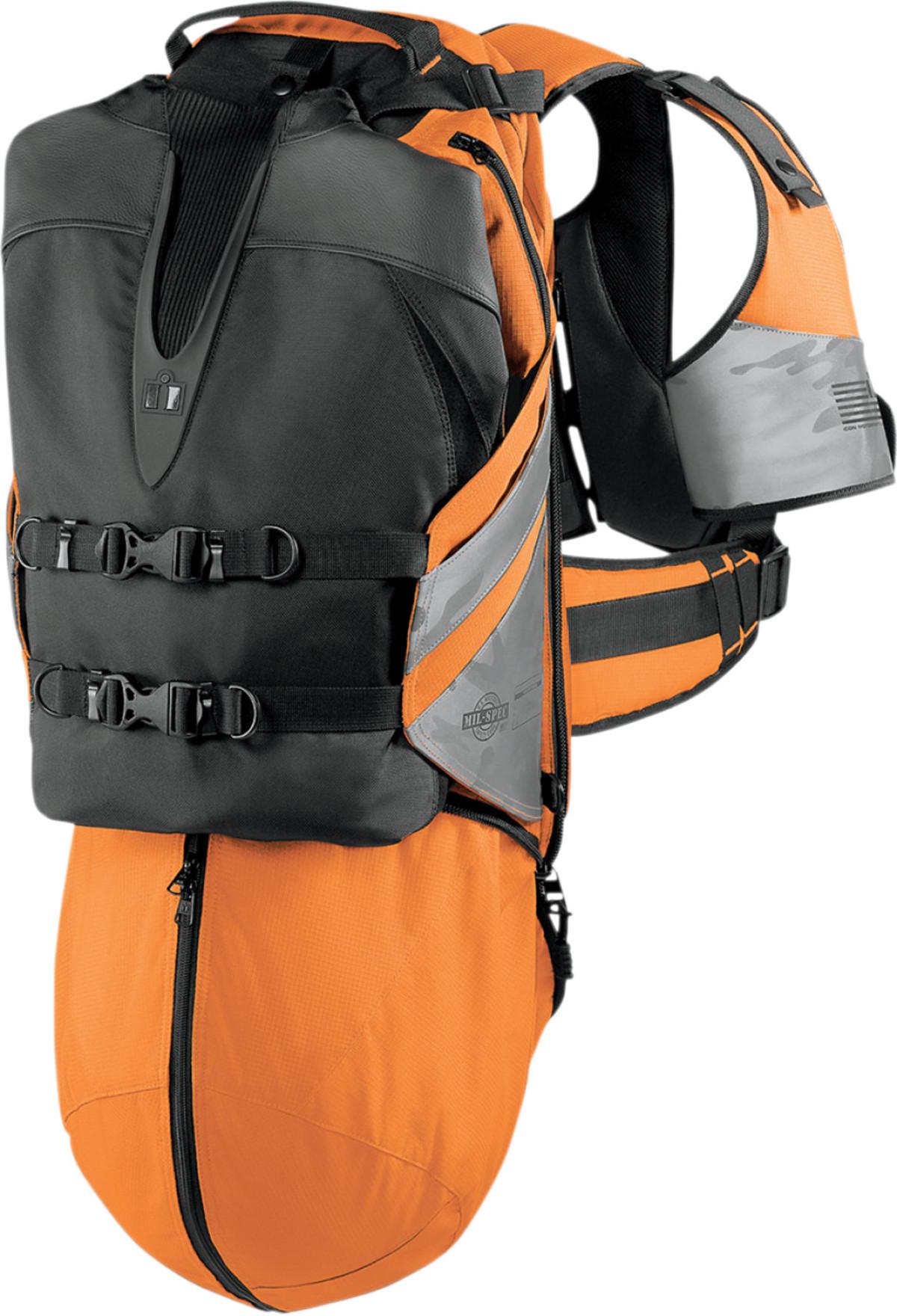 ICON SQUAD II 2 PACK MOTORCYCLE BACKPACK BAG MIL SPEC HI