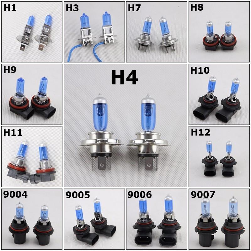 H11 High+Low Beam Super White 5000K Xenon Halogen Headlight Replacement Bulb X2