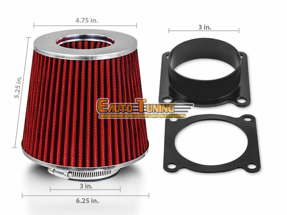 MAF Mass Air Flow Sensor Intake Adapter for Nissan 00-03 Maxima 3.0L 3.5L V6 02