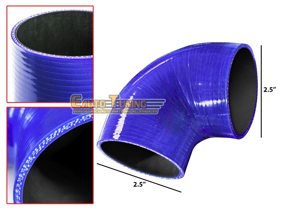 """BLUE 3/""""-3.5/"""" AIR INTAKE//PIPING RUBBER REDUCER COUPLER FOR HONDA//ACURA"""
