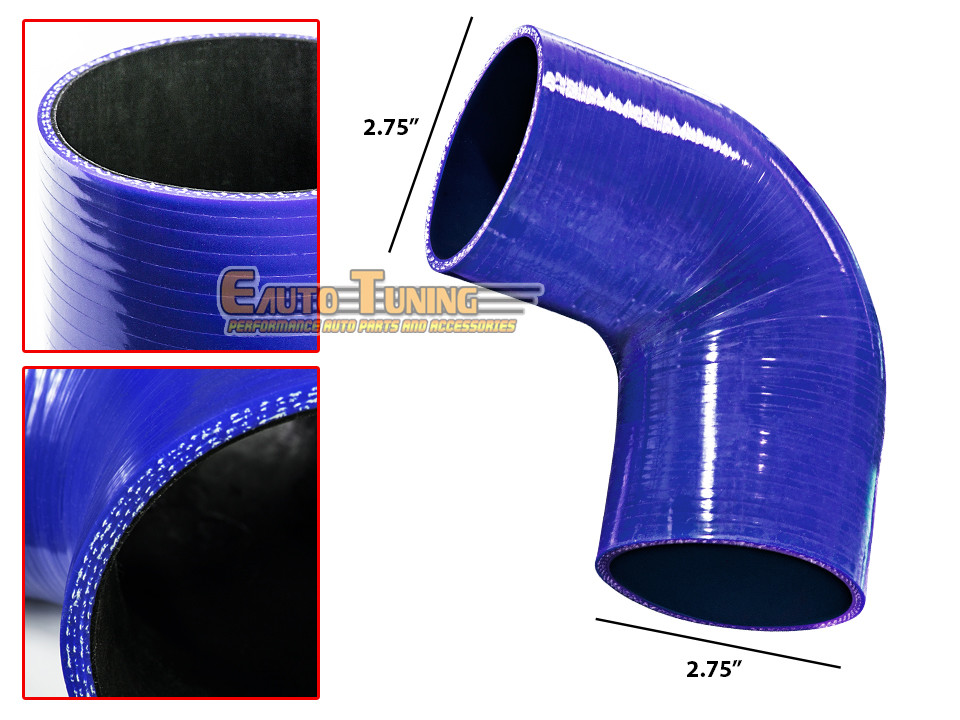 "3/"" Silicone Hose//Intake//Intercooler Pipe Elbow Coupler BLUE For Chrysler"