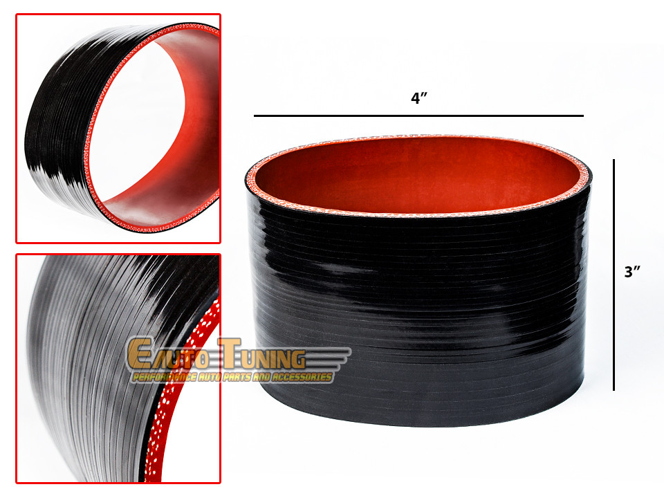 """RED 2.75/"""" Inch Silicone 3ply Coupler Hose Turbo Intake Intercooler For Dodge"""