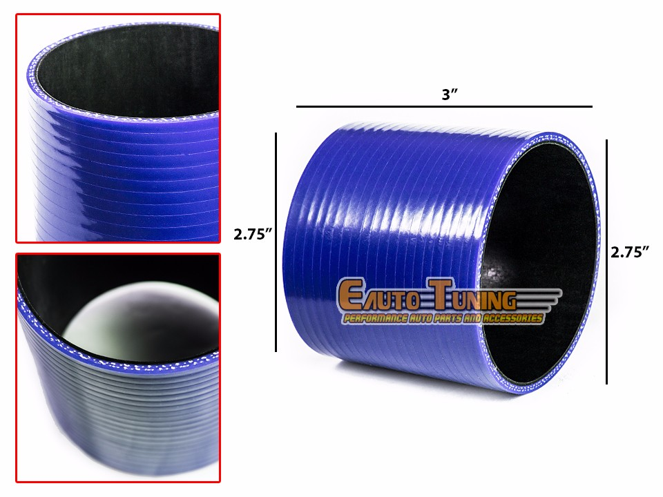 "BLUE 2.75/"" Inch 70mm Silicone 3ply Coupler Hose Turbo Intake Intercooler Hyun"