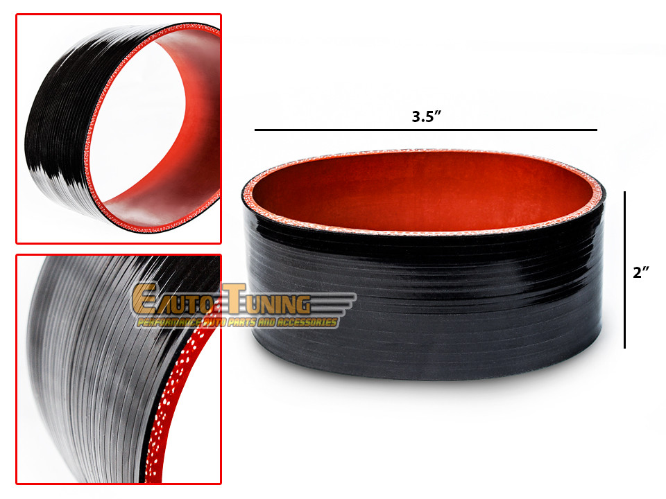 """2.75/"""" Silicone Hose//Intake//Intercooler Pipe Straight Coupler BLACK For Buick"""