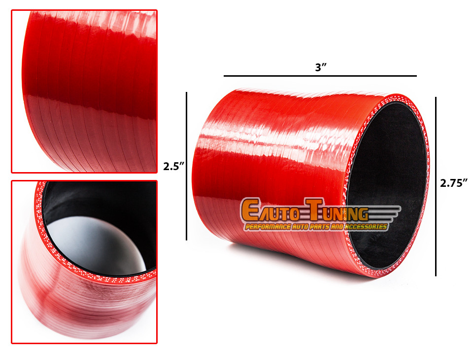 """3/"""" To 2.75/"""" Silicone Hose//Intake//Intercooler Pipe Coupler RED For Chevrolet"""