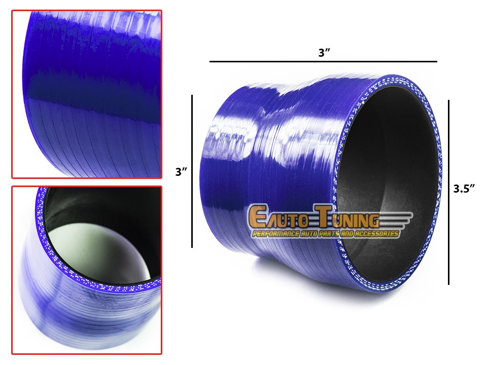 """3/"""" Silicone Hose//Intake//Intercooler Pipe Straight Coupler BLUE For Chrysler"""