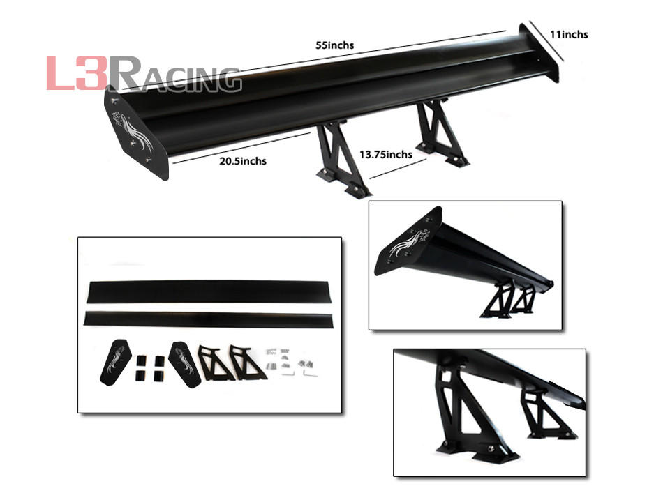 RTUNES RACING GT Type S SILVER Adjustable Aluminum Spoiler Wing Ford