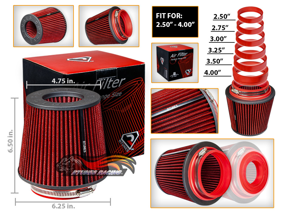 Cold Air Intake Filter Universal RED For Corsica//Corvair//Cruze//City Express