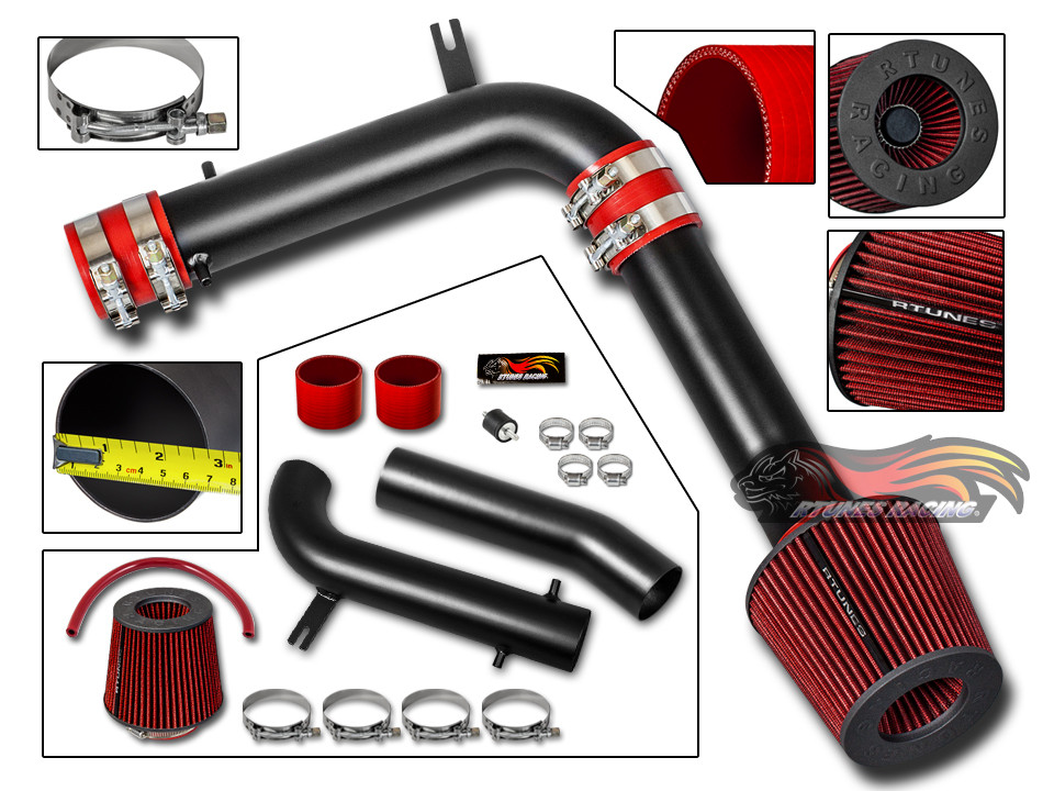 "3/"" JDM BLACK Cold Air Intake Induction Kit+Filter For 95-02 Accord V6 2.7L//3.0L"