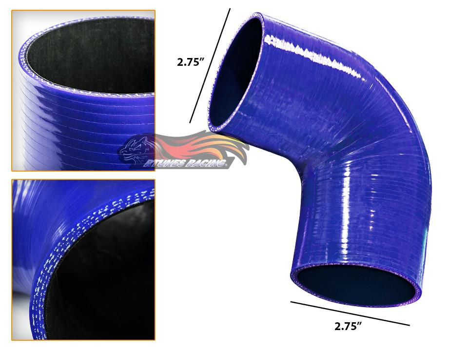 "RED 2.75/""-2.5/"" 70-63mm 3-ply Silicone Reducer Hose Turbo Intake Intercooler Hyun"