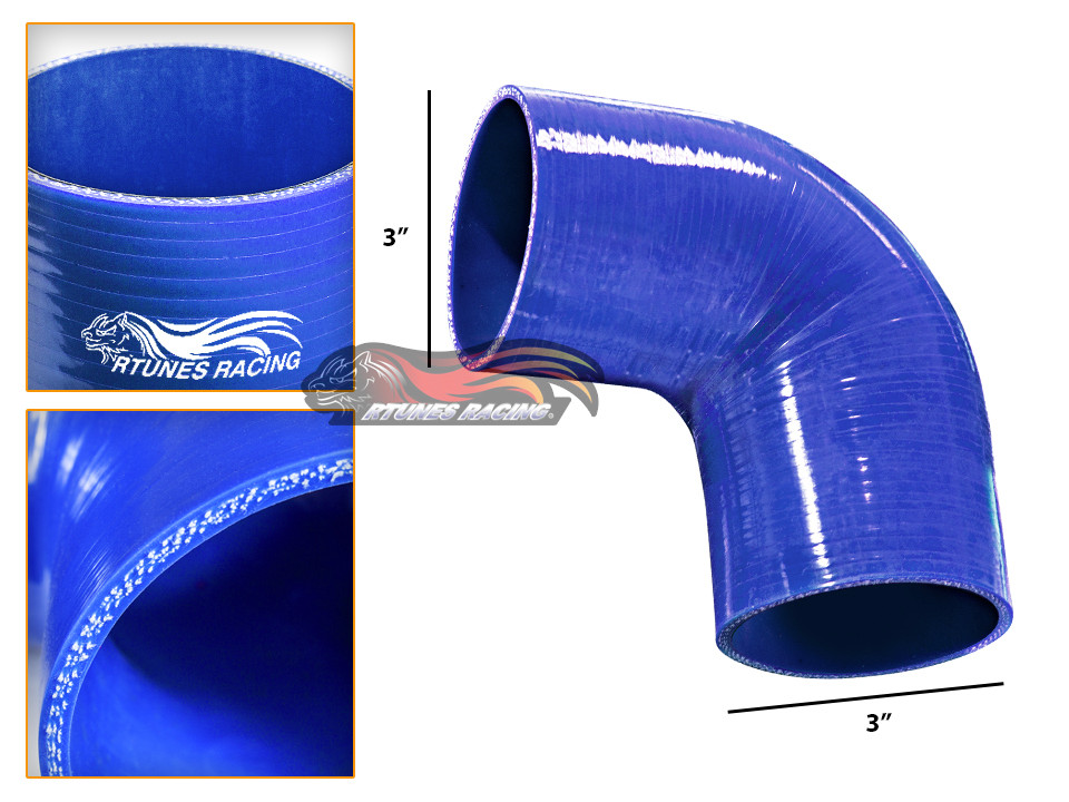 "BLUE 2.75/"" Inch 70mm Silicone 3ply Coupler Hose Turbo Intake Intercooler Chev1"