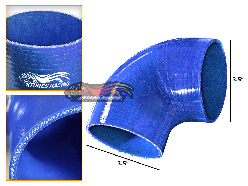 """RED 2.75/""""-2.5/"""" 70-63mm 3-ply Silicone Reducer Hose Turbo Intake Intercooler SB"""