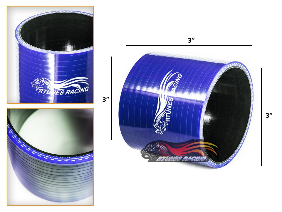 "3.5/"" To 3/"" Silicone Hose//Intake//Intercooler Pipe Coupler BLUE For Mazda//Honda"