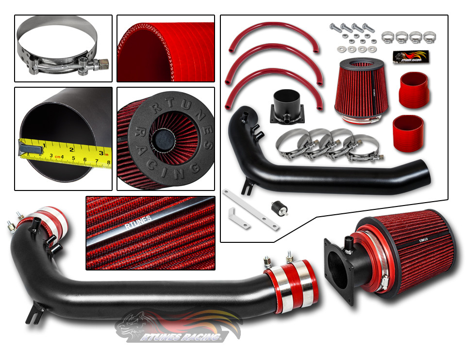 1991 1992 1993 1994 Nissan 240SX S13 Silvia 2.4L L4 Air Intake Filter System Kit Red Filter /& Accessories