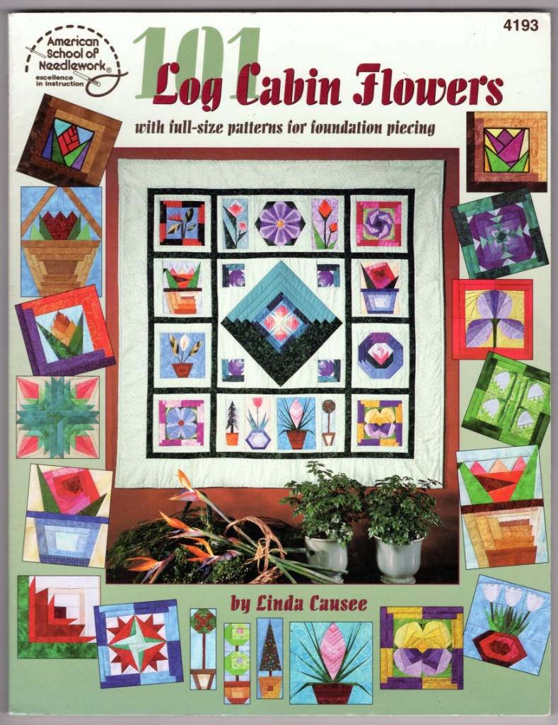Image 0 of 101 Log Cabin Flowers with full-size pattern for foundation piecing