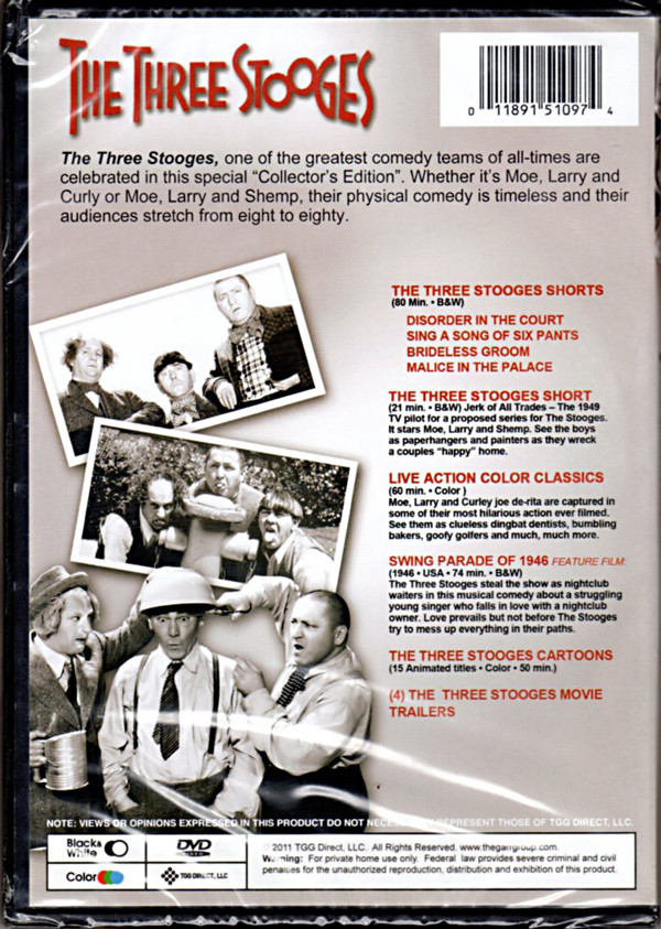 Image 1 of The Three Stooges: 75th Anniversary ~ Over 4 Hours of Classic Comedy