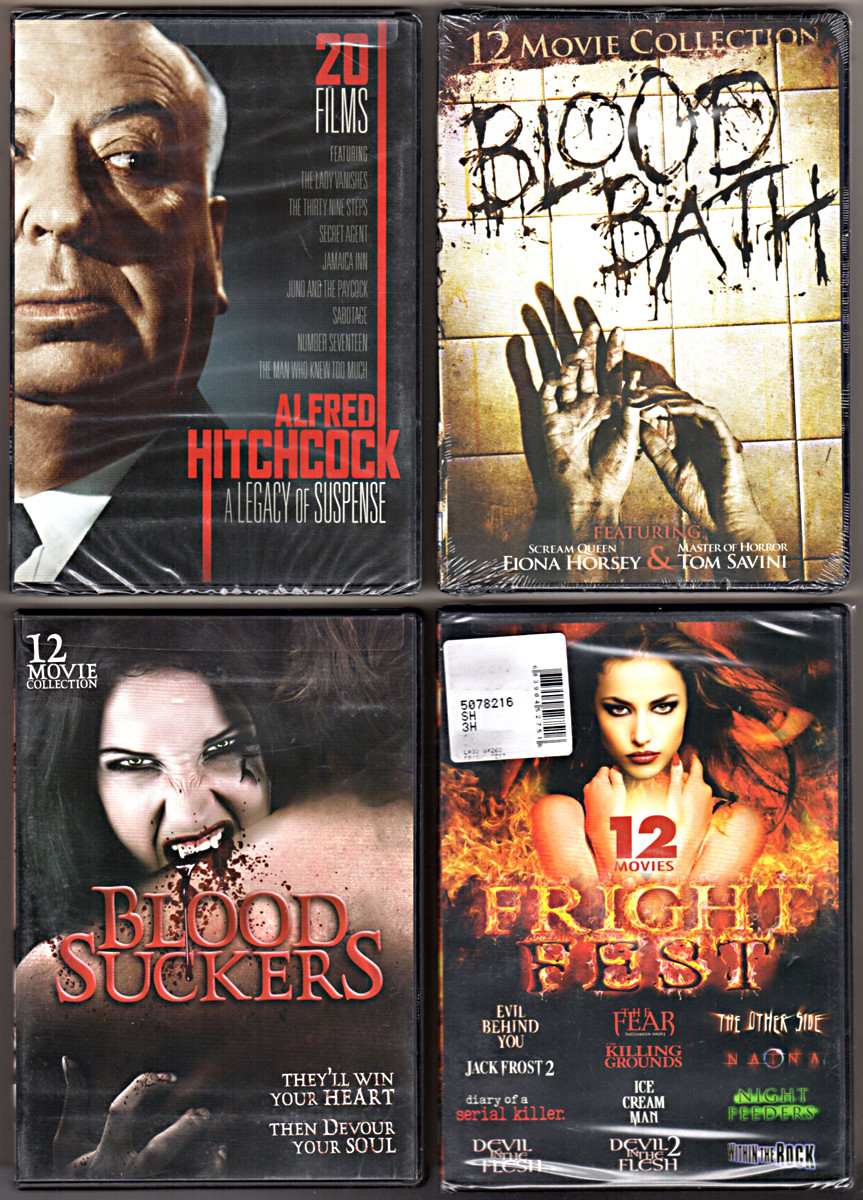 Image 0 of 56 HORROR MOVIE COLLECTION~Hitchcock, Blood Bath, Blood Suckers, Fright Fest