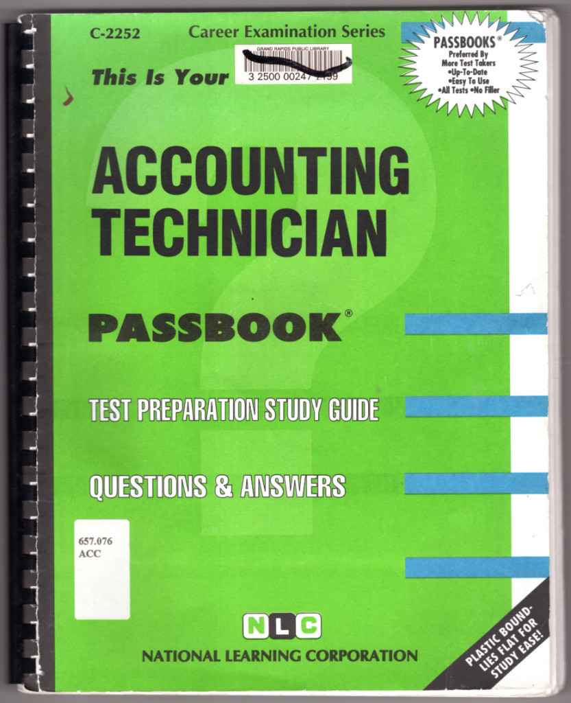 Image 0 of Accounting Technician(Passbooks)
