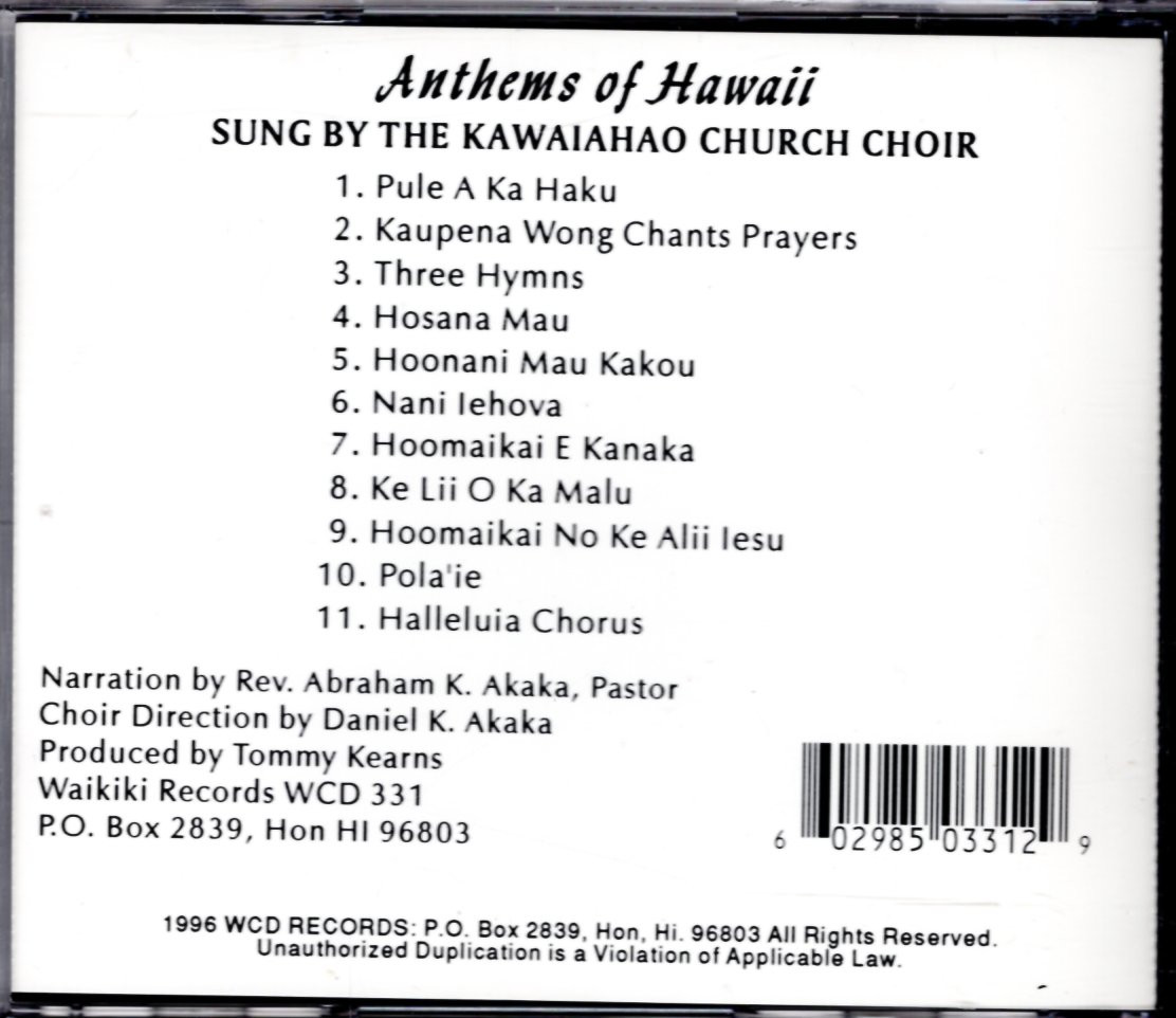 Image 1 of Anthems of Hawaii
