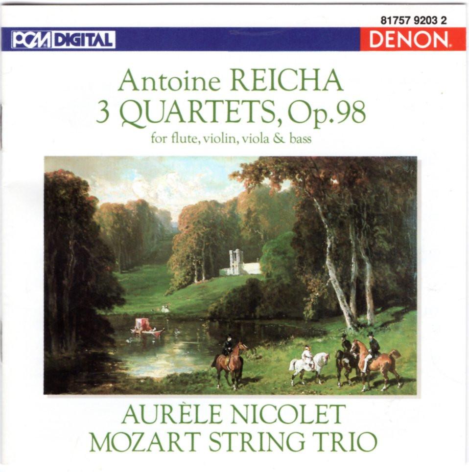 Image 0 of Reicha: Three Quartets, Op. 98 for Flute, Violin, Viola and Bass