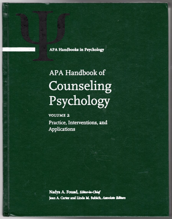 Image 1 of APA Handbook of Counseling Psychology 2 Vol Set (APA Handbooks in Psychology)