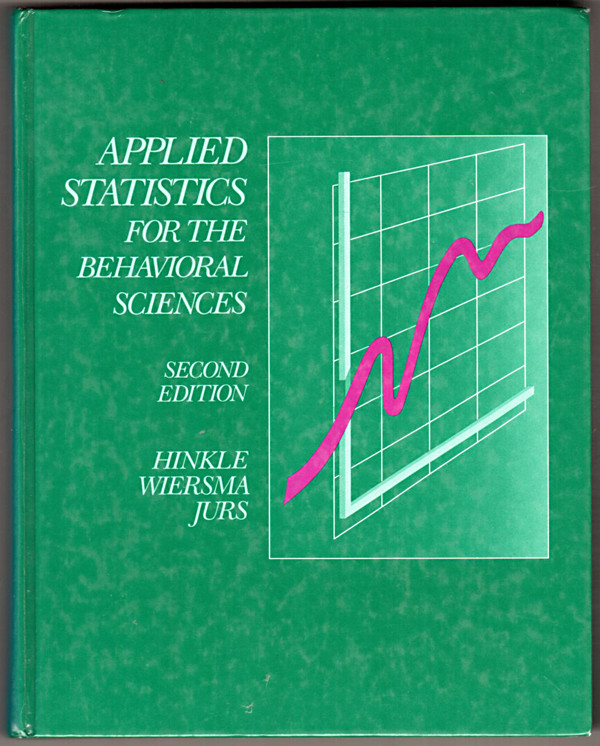 Image 0 of Applied Statistics for the Behavioral Sciences