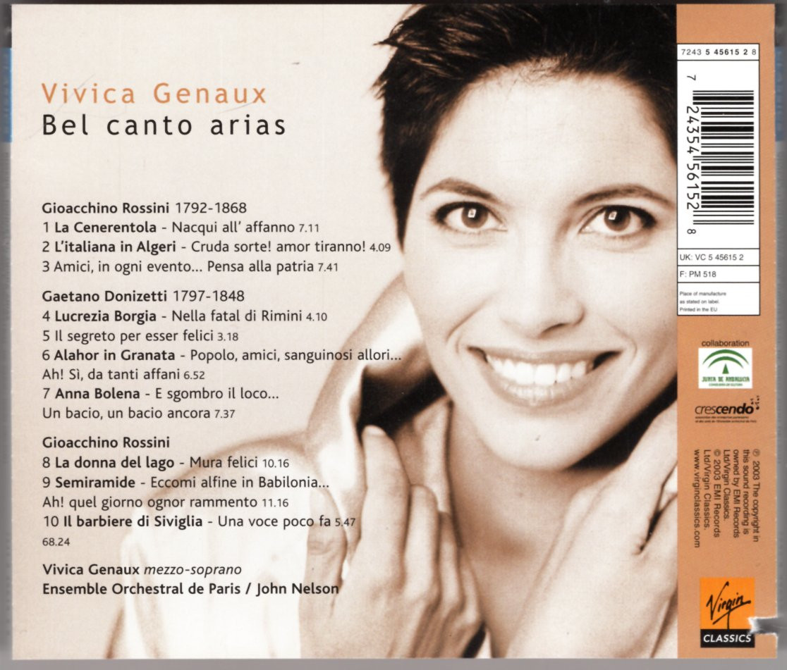Image 1 of Bel Canto Arias; Vivica Genaux