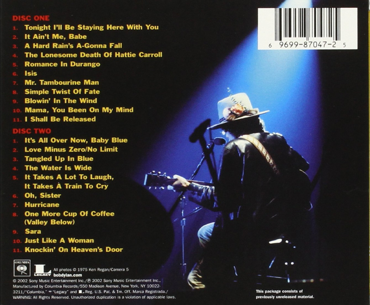 Image 1 of Bob Dylan Live 1975 (The Bootleg Series Volume 5)