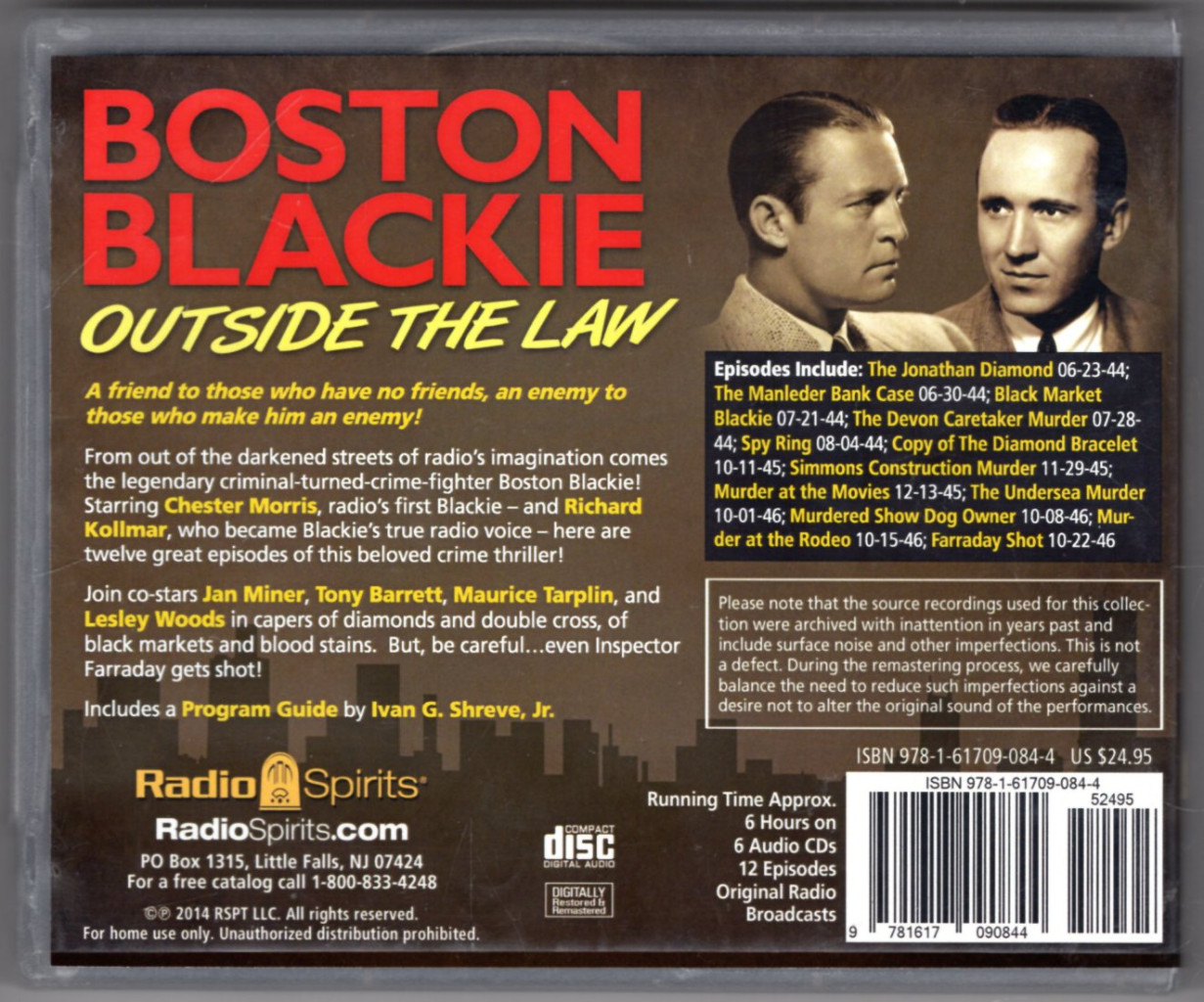 Image 1 of Boston Blackie:Outside the Law (Old Time Radio)