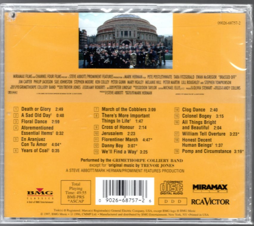 Image 1 of Brassed Off!: Original Soundtrack From The Miramax Motion Picture