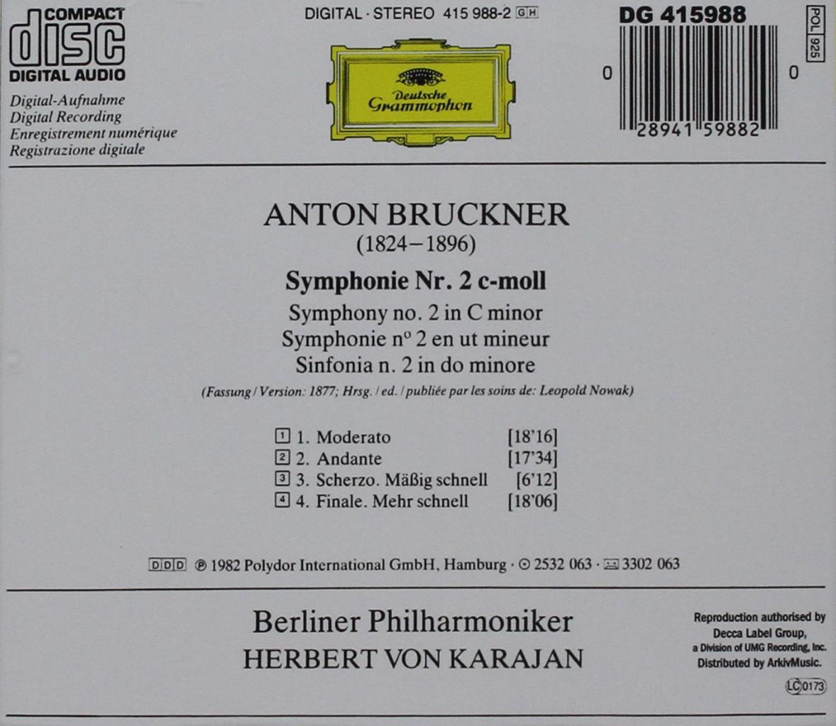 Image 1 of Bruckner: Symphony No. 2