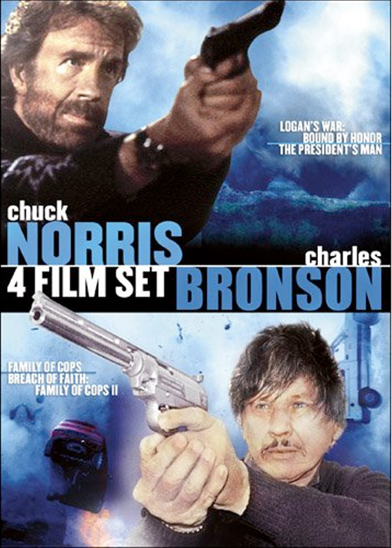 Image 0 of Charles Bronson & Chuck Norris 4 Film Set: Logan's War: Bound By Honor / The Pre