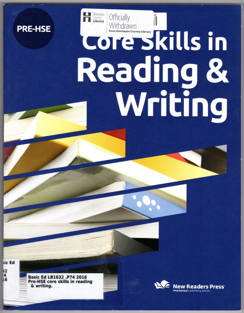 Image 0 of PRE-HSE Core Skills in Reading & Writing