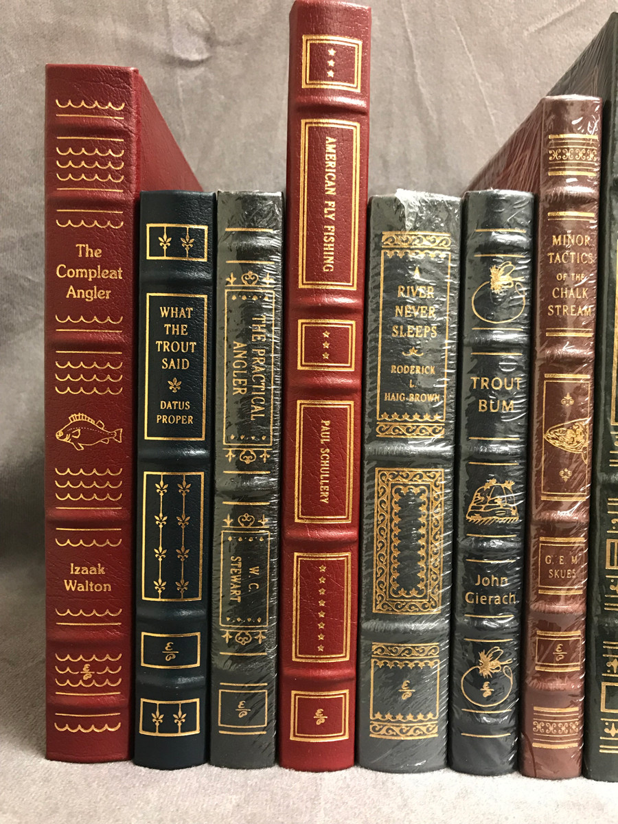 Image 2 of Easton Press Library of Fly-Fishing Classics ~ 30 volumes of 33 ~ Collector's Ed