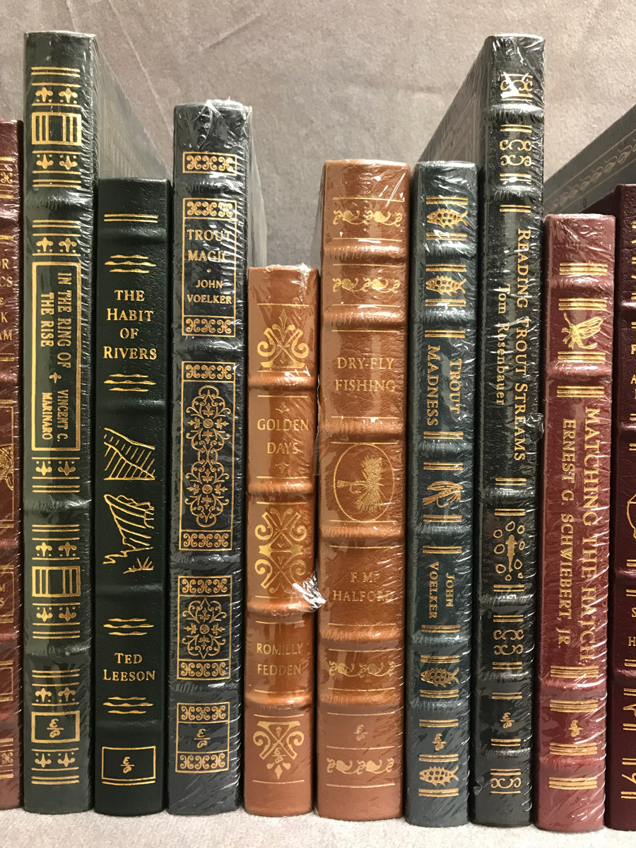 Image 3 of Easton Press Library of Fly-Fishing Classics ~ 30 volumes of 33 ~ Collector's Ed