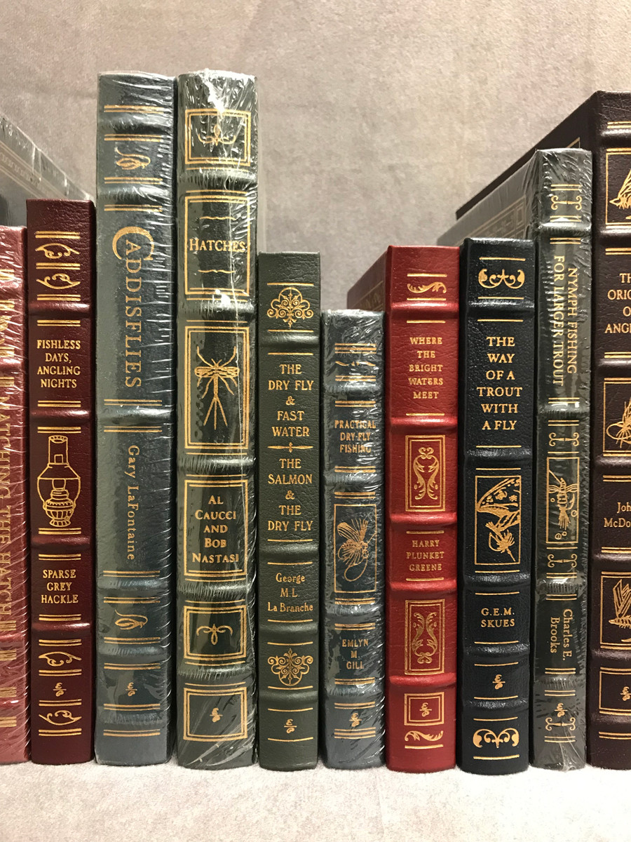 Image 4 of Easton Press Library of Fly-Fishing Classics ~ 30 volumes of 33 ~ Collector's Ed