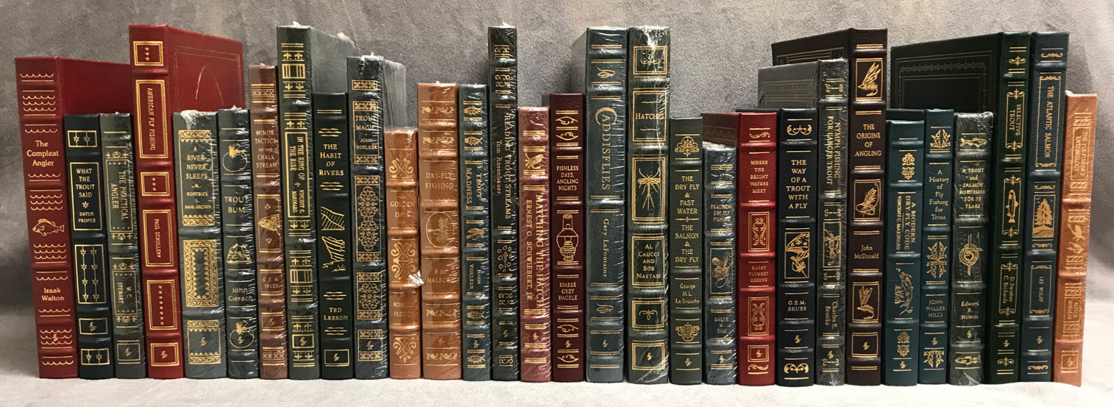 Image 0 of Easton Press Library of Fly-Fishing Classics ~ 30 volumes of 33 ~ Collector's Ed