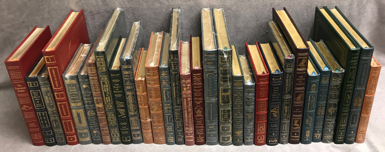 Image 1 of Easton Press Library of Fly-Fishing Classics ~ 30 volumes of 33 ~ Collector's Ed