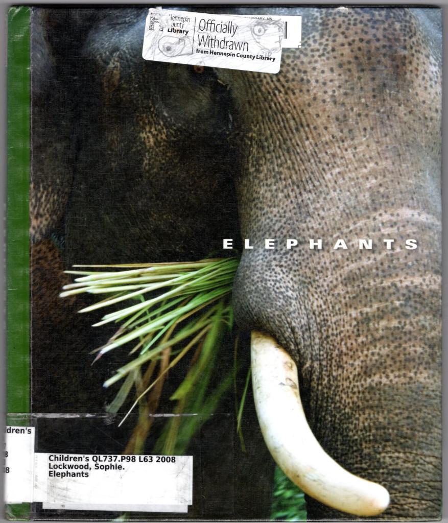 Image 0 of Elephants (The World of Mammals)
