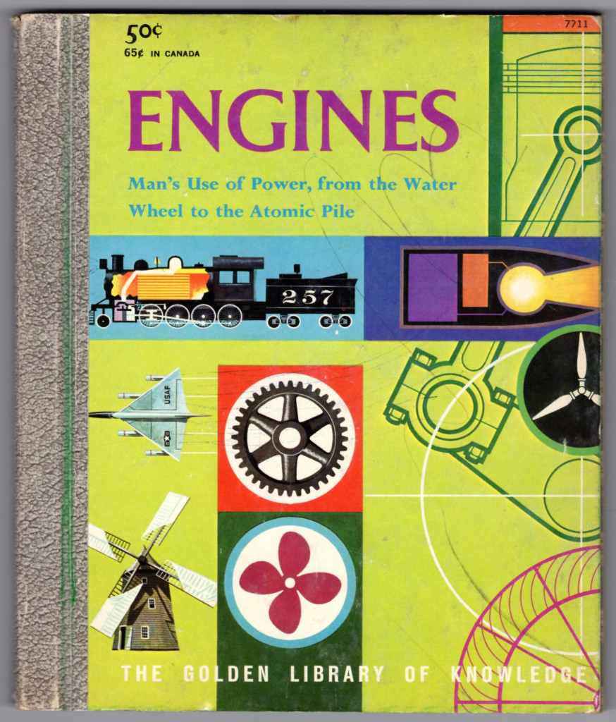 Image 0 of ENGINES, Man's Use of Power, from the Water Wheel to the Atomic Pile (Golden Lib