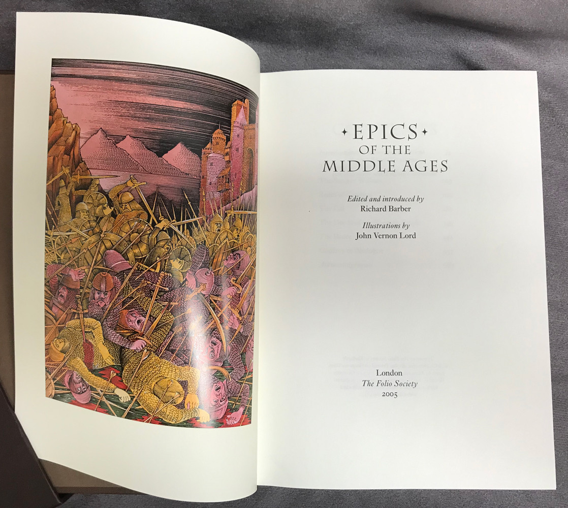 Image 2 of Epics of the Middle Ages (Folio Society, Quarter-Bound in Goatskin Leather)