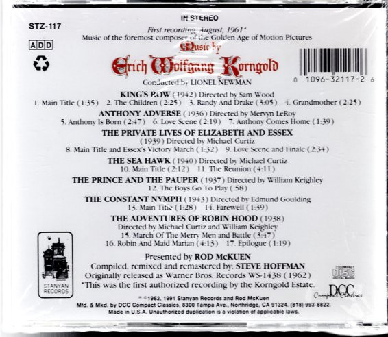 Image 1 of The Film Music of Erich Wolfgang Korngold
