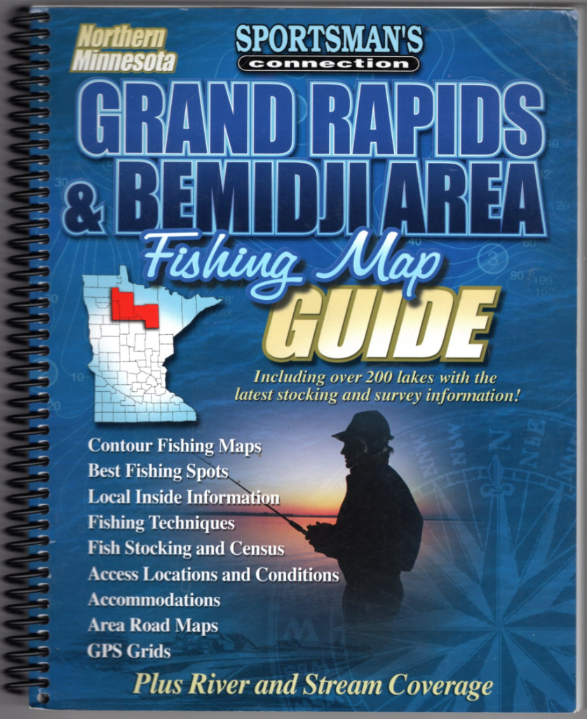 Image 0 of Northern Minnesota Grand Rapids & Bemidji Area Fishing Map Guide