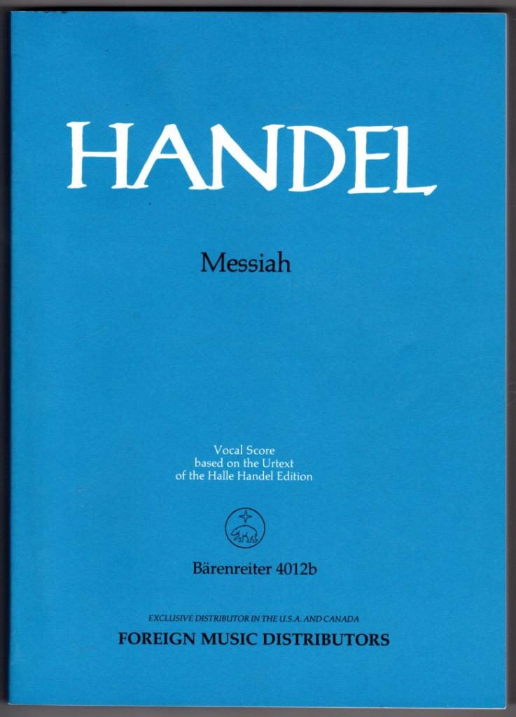 Image 0 of Handel:Messiah (vocal Score Based on the Urtext of the Halle Handel Edition)