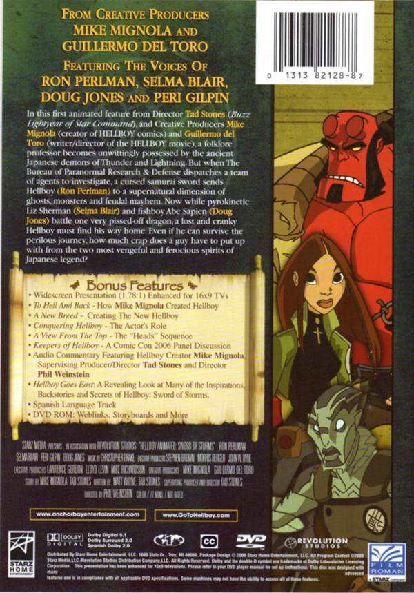 Image 1 of Hellboy Animated - Sword of Storms : Widescreen Edition
