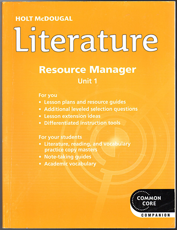 Image 0 of Holt McDougal Literature Resource Manager Grade 7 Unit 1